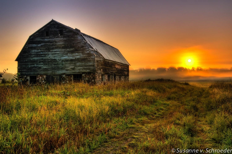 Wisconsin Barn Photo Sunrise Nature Photography Fine Art
