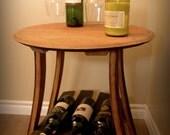 Napa Wine Barrel Side Table