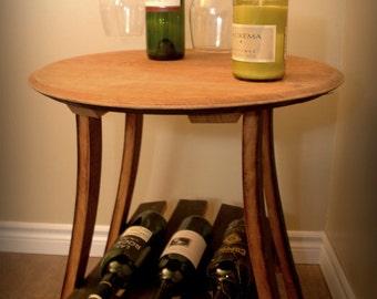 Napa Wine Barrel Side Table & Wine Barrel Bar Stool w/ back islam-shia.org