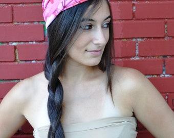 Turban Headband, Pink Headband Girls Headband for Yoga and Workout, Womens Headband, Fashion Headband, Exercise Headband, Boho Headband