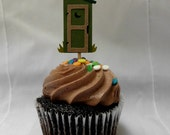 Outhouse Cupcake Topper