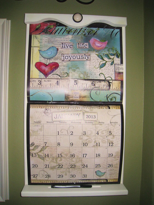 decorative wooden calendar holder for calendar 24 h x