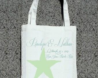 Destination Wedding Starfish- Wedding Welcome Tote Bag