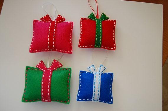Items similar to felt christmas ornaments gift box