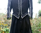 Men's Used Black Wool Elizabethan/Renaissance Reenactment Costume - Large Size