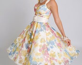 SALE  50's vintage style floral ladies dress - WhyMaryDesigns