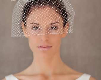 "Bridal Veil, Birdcage Wedding - ""Amber"""