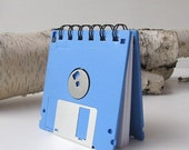 Floppy Disk Recycled Geek Gear Mini Notebook Blank in Light Blue