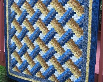 Quilt, lap quilt, twin quilt, patchwork quilt, quilted throw, patchwork throw, Weaver Fever patchwork quilt, country quilt