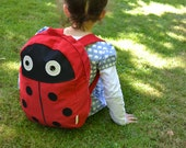 Ladybird / Ladybug Toddler Child Unisex Backpack - coralcandyshop
