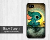 iPhone 4 case, iPhone 4s case, iPhone 4 hard cover - Swimming Stitch