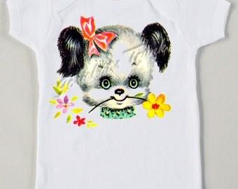 Retro Baby Puppy Tee Custom Size Vintage Tshirt