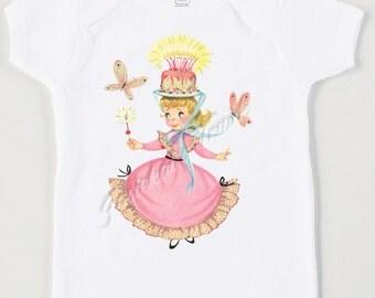 Vintage Birthday Princess Tee - Girl Party Shirt - Birthday Tea Party - Pink Princess Shirt - Personalized Birthday Party Tee - Retro Baby