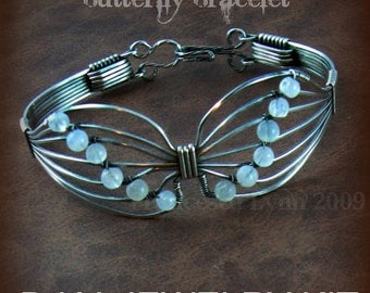 DIY JEWELRY KIT for Wire Wrapped Butterfly Bracelets (pdf tutorial on cd along with supplies)