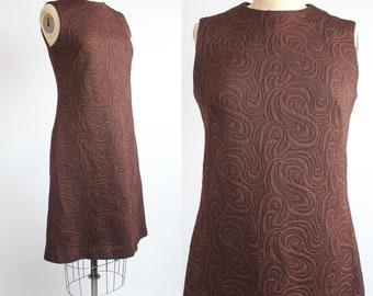 SUMMER SALE    Vintage 1960s Shift Dress   Sleeveless Mod Scooter Dress   A-Line Knee Length Dress   S-M