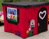 Kids Playhouse, Tablecloth Playhouse, Play Tent, Sweet Street Cottage, Custom Order, Fits Card Table