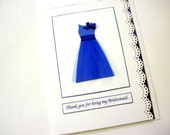 Will you be my Bridesmaid card Wedding party invitations Thank you Bridesmaid Maid of Honor  Matron of Honor Card