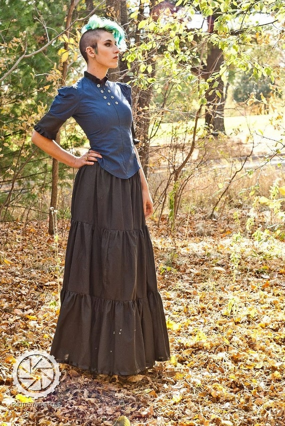 Long Cotton Petticoat - Gypsy Pirate - Steampunk Gothic Bohemian Skirt Floor Length - Custom to Order