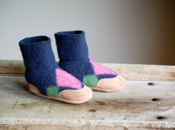 Wool Baby Slippers, Eco Friendly, size 6-18 months, I Can Do It