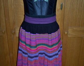 Festival dress, Corset Dress, Guatemala dress, strapless dress, sexy Bohemian,  size S