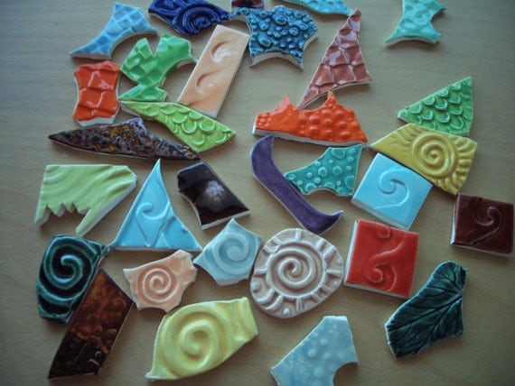 31K - 31 pc BITS 'n PIECES - Ceramic Mosaic Tiles