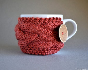Knit Coffee Cozy, Knit Coffee Sleeve, Coffee Mug Cozy, Coffee Mug Sleeve, Coffee Cup Sleeve, Coffee Cup Cozy, Tea Cozy, Coffee Gifts