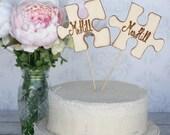 Wedding Cake Topper Custom Puzzle Pieces (Item Number 140175)