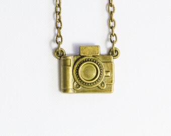Bronze Camera Necklace