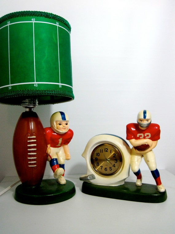 Vintage Football Lamp And Alarm Clock