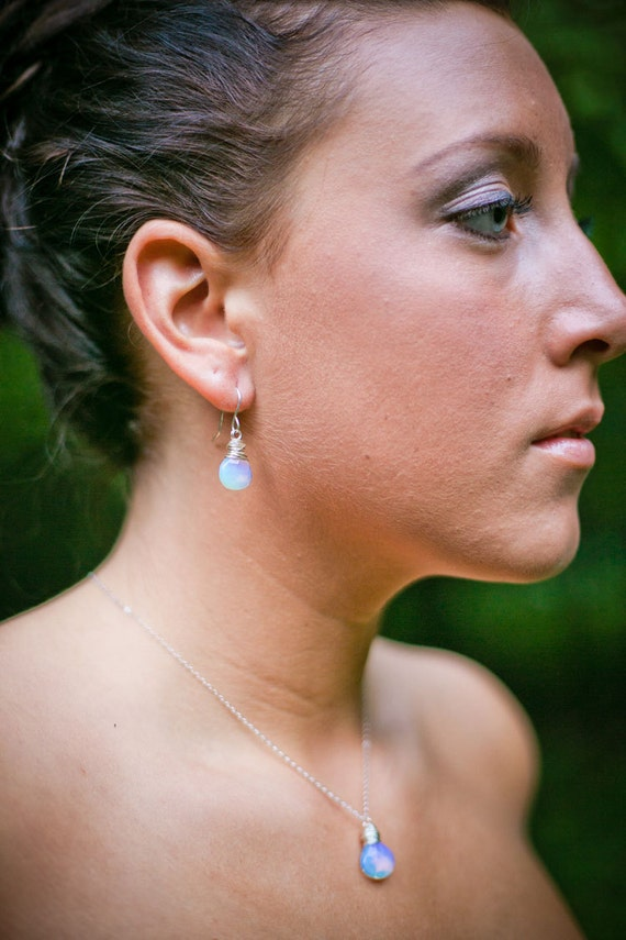 Fire Opal Earrings, Fire Opal Jewelry, Bridal Earrings, October Birthstone, October Earrings