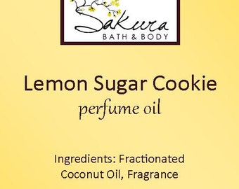 Lemon Sugar Cookie Roll On Perfume Oil - Lemon Vanilla Cake
