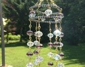 Hematite Beads - Brass Wire wrapped - Chinarovski Beads - Glass Beads - Sparkly - Dazzling - Sun Catcher - Glass Crystal