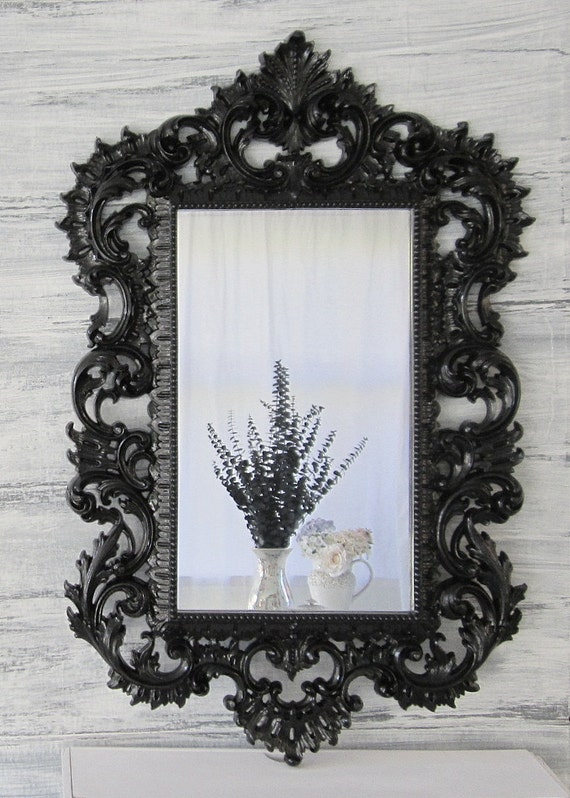 Hollywood regency mirror for sale large syroco by for Large decorative mirrors for sale