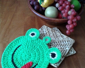 Freddy Frog Potholder | Crochet Patterns | crochet