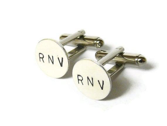 Silver Monogram cufflinks Initial cufflinks custom cufflinks men personalized cufflinks wedding cufflinks sterling silver cufflinks