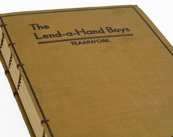 1931 LEND A HAND Vintage Book Journal Notebook