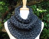 Cozy Cowl Scarf Neckwarmer Capelet Shawlette Soft Warm Comfy Charcoal