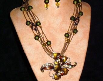 Hemp Necklace K18 Secret Flower