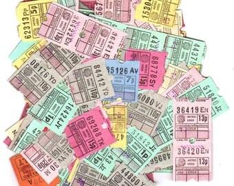 24 UK vintage tickets - Antique 20 ticket set from United Kingdom