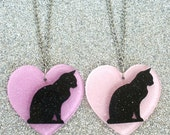Friendship Necklaces - Laser Cut Acrylic Cat