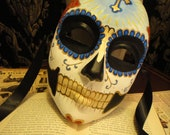 St John Day of the Dead Mask - Mans Religious Catholic Skull Venetian skeleton Dia de los muertos - custom order color of your choice