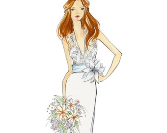 Emma-Bridal Fashion Illustration-by Brooke Hagel