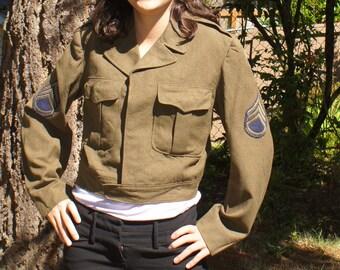 WWII US Wool Military Coat WW2 Army Jacket 1940s