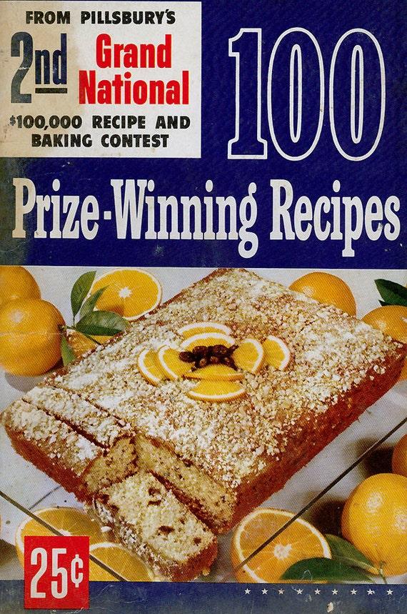 Vintage Cookbook 1950s PILLSBURY BAKE OFF 2nd Grand National 100 ...