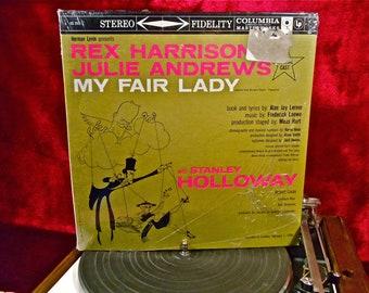 MY FAIR LADY - Original Broadway Musical - 1960s Vintage Vinyl GATEFOLd Record Album