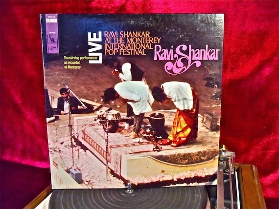RAVI SHANKAR - LIVE at the Monterey International Pop Festival - 1967 Vintage Vinyl GATEFOLd Record Album