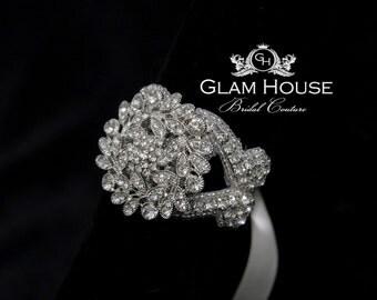 Art Deco Bridal Bracelet - Vintage L'Amour