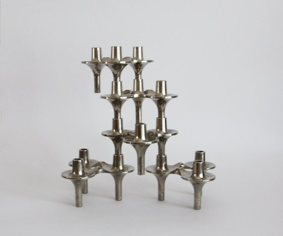 Vintage Candle Holders BMF 'Orion'  - Set of 5