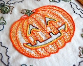Jack O'Lantern Halloween Vintage Inspired (PDF) Embroidery Pattern