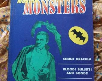 Modern Monsters Magazine 1966 No 2 Frankenstein Vampire Dracula Poster Nick Adams Sci Fi Horror